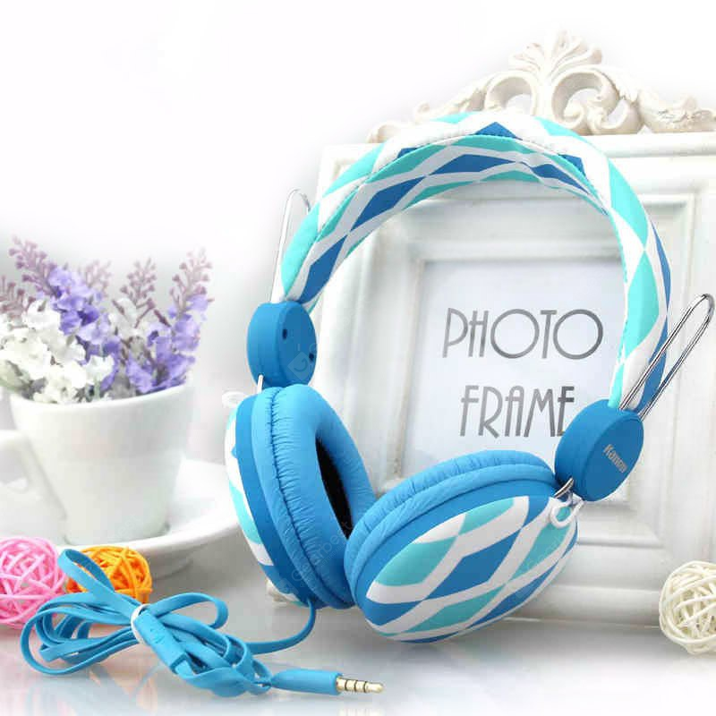 Kanen IP - 810 Stereo Sound Colorful Headphone Hands Free Headset with Built - in Mic for Smartphone