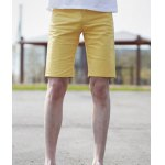 Buy Fashion Style Zipper Fly Design Solid Color Slimming Straight Leg Men's Polyester Shorts L YELLOW