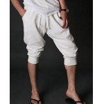 Buy Casual Style Slimming Letter Print Straight Leg Polyester Shorts Men 2XL LIGHT GRAY