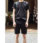 Buy Fashion Style Round Neck Personality Floral Print Slimming Short Sleeves Men's Cotton T-Shirt Suits L