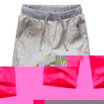 Buy Casual Style Lace-Up Slimming Color Splicing Waist Simple Design Straight Leg Men's Linen+Cotton Shorts M