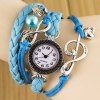 best Fashion Style Watch with Bead Pendant and Knitting Leather Watch Band