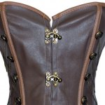 Retro Style Chain Embellished Criss-Cross Lace-Up Corset For Women for sale