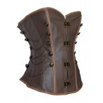 cheap Retro Style Chain Embellished Criss-Cross Lace-Up Corset For Women