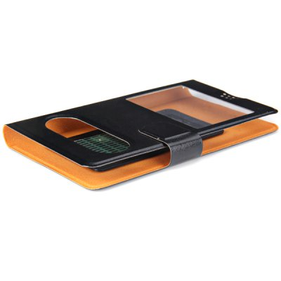 PU Leather Case with Creative View Window Function for 5.0 inch Phone