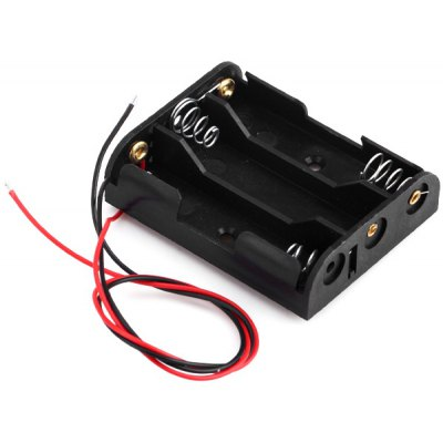 Wired Battery Holder Box Case for 4.5V 3 x AA Li - ion Battery