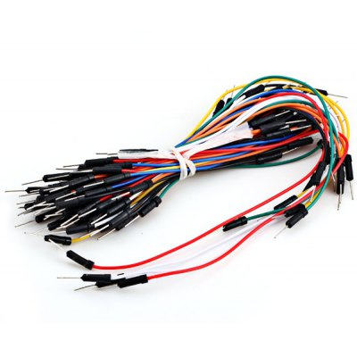60pcs/Pack Male to Male Solderless Breadboard Jumper Cable Wires Kit for Arduino