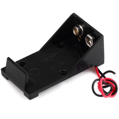 Гаджет   Wired Battery Holder Box Case for 9V 6F22 Li - ion Battery Other Accessories