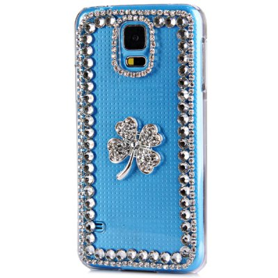 Artificial Diamond Looking Clover Pattern Transparent Plastic Case for Samsung Galaxy S5 i9600 SM - G900Samsung Cases/Covers<br>Artificial Diamond Looking Clover Pattern Transparent Plastic Case for Samsung Galaxy S5 i9600 SM - G900<br><br>Compatible for Sumsung: Samsung Galaxy S5 i9600 SM-G900<br>Features: Back Cover<br>Material: Plastic<br>Style: Special Design, Novelty Crystal, Diamond Look<br>Product weight: 0.030 kg<br>Package weight: 0.100 kg<br>Product size (L x W x H) : 14.2 x 7.5 x 1.5 cm / 5.6 x 3 x 0.6 inches<br>Package size (L x W x H): 20 x 10 x 3 cm<br>Package Contents: 1 x Case