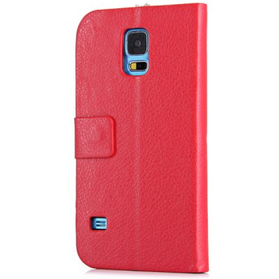 ФОТО Diamond Love Pattern Double View Windows Design PU and PC Stand Case for Samsung Galaxy S5 i9600 SM - G900