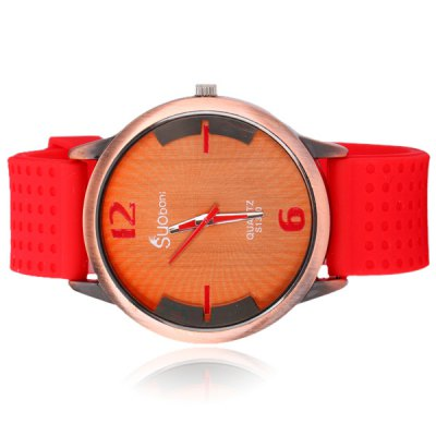 Fashionable Men Wrist Watch Analog with Round Dial Silicone Watch BandMens Watches<br>Fashionable Men Wrist Watch Analog with Round Dial Silicone Watch Band<br><br>Watches categories: Male table<br>Watch style: Fashion<br>Available color: Black, Red, Blue<br>Movement type: Quartz watch<br>Shape of the dial: Round<br>Display type: Pointer<br>Case material: Stainless steel<br>Case color: Gold<br>Band material: Silica gel<br>Clasp type: Pin buckle<br>Band color: Red<br>The dial thickness: 1.1 cm / 0.4 inch<br>The dial diameter: 4.5 cm / 1.8 inch<br>The band width: 2.2 cm / 0.9 inch<br>Product weight: 0.064 kg<br>Product size (L x W x H): 25.7 x 4.7 x 1.1 cm / 10.1 x 1.9 x 0.4 inches<br>Package Contents: 1 x Watch