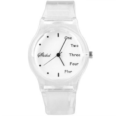 Гаджет   Watch with Round Dial and Transparent Rubber Band for Children Watches