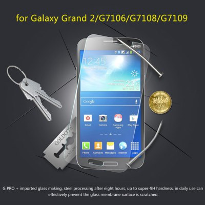 ФОТО Wriol G - PRO Glass Panel 9H Hardness 0.3mm Screen Protector Film for Samsung Galaxy Grand 2 G7106 G7108 G7109