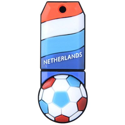 Football Style 32GB Capacity USB 2.0 Flash Drive U Disk for Computer  -  NetherlandsUSB Flash Drives<br>Football Style 32GB Capacity USB 2.0 Flash Drive U Disk for Computer  -  Netherlands<br><br>Capacity: 32G<br>Type: USB Stick<br>Features: Dustproof, Shockproof, Novelty, Metal<br>Style: Sporty<br>Interface: USB 2.0<br>Product Weight: 0.010 kg<br>Package Weight: 0.080 kg<br>Product Size (L x W x H): 4.6 x 2 x 1.5 cm / 1.8 x 0.8 x 0.6 inches<br>Package Size (L x W x H): 10 x 5 x 5 cm<br>Package Contents: 1 x U Disk