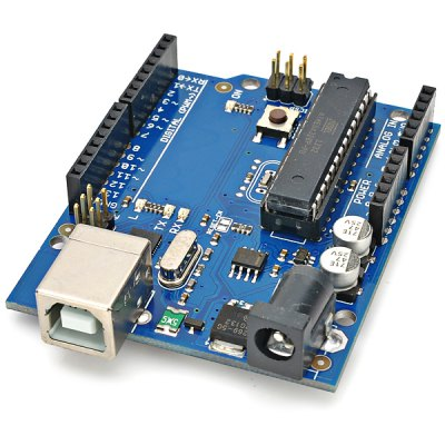 R1206 UNO Development Board + Breadboard + Bread Wires SetKits<br>R1206 UNO Development Board + Breadboard + Bread Wires Set<br><br>Type: Connection Cable, Breadboard, Development board<br>Model: R1206<br>Compatibility: Ardunio<br>Package Weight: 0.200 kg<br>Package Size(L x W x H): 10.0 x 7.0 x 3.0 cm<br>Package Contents: 1 x Module, 1 x Development Board, 1 x Breadboard (170 holes, 0.1cm pitch), 65 x Bread Cables (22cm), 1 x USB Cable (60cm)