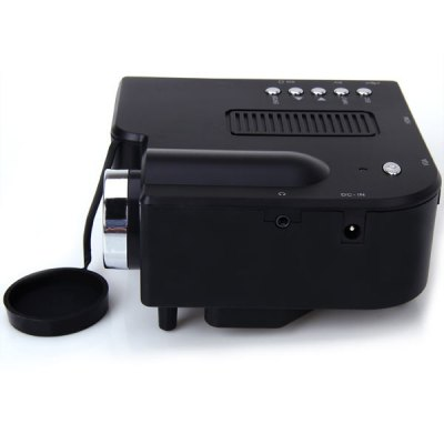 UC - 40 400 Lumens Two Colors Portable Home Mini LED Projector Support AV/SD/VGA/HDMI 4GB TF Card Included