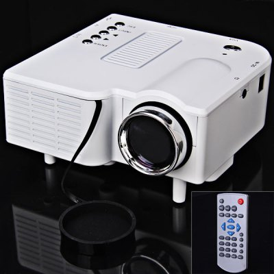 UC - 40 400 Lumens Two Colors Portable Home Mini LED Projector Support AV/SD/VGA/HDMI 8GB TF Card Included