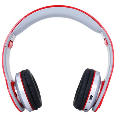 AT - BT802 Wireless Bluetooth Hands Free Headphone Dynamic Sterero Headset with FM Built - in Mic for Smartphone / Tablet PC / Music Players