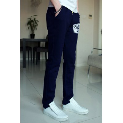 Гаджет   Casual Style Lace-Up Slimming Solid Color Letters Print Knitted Narrow Feet Men