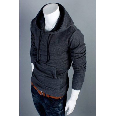 Fashion Style Solid Color Slimming Simple Design Long Sleeves Mens Cotton Blend HoodiesMens Hoodies &amp; Sweatshirts<br>Fashion Style Solid Color Slimming Simple Design Long Sleeves Mens Cotton Blend Hoodies<br><br>Material: Polyester, Cotton<br>Clothing Length: Regular<br>Sleeve Length: Full<br>Style: Fashion<br>Weight: 0.592KG<br>Package Contents: 1 x Hoodies