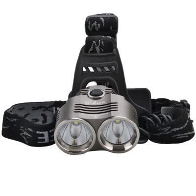 SingFire SF - 621 Headlamp 2 x Cree XM - L T6 1600LM White Light 3 - Mode LED Light with US Charger and 2 - 18650 Battery Pack - SINGFIREHeadlights<br>SingFire SF - 621 Headlamp 2 x Cree XM - L T6 1600LM White Light 3 - Mode LED Light with US Charger and 2 - 18650 Battery Pack<br><br>Headlight brand: SingFire<br>Model: SF-621<br>Function: Exploring, Seeking Survival, Camping, Hiking, Walking, Hunting<br>Feature: Can be used as headlamp or bicycle light, Waterproof Battery Pack<br>Lumen: 1600lm<br>Emitter type: XM-L T6<br>Emitter number: 2 x Cree XML-T6<br>Mode: 3 (High &gt; Low &gt; Strobe)<br>Battery  : 2 x 18650 Battery (Included)<br>Power source: Battery<br>Reflector: Aluminum smooth reflector<br>Lens: Glass Lens<br>Focus: No<br>Rechargeable: Yes<br>Color: Black<br>Beam Distance: 150-200m<br>Body Material: Aluminium Alloy<br>Product weight: 0.254 kg<br>Package weight: 0.7 kg<br>Product size (L x W x H): 6.2 x 6.7 x 3.3 cm / 2.44 x 2.64 x 1.3 inches<br>Package size (L x W x H): 18 x 14.5 x 11 cm<br>Package Contents: 1 x Headlight, 1 x Wall Charger, 2 x 18650 Batteries