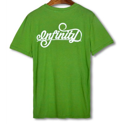Гаджет   Simple Style Round Neck Solid Color Design Slimming Letters and Tiny Cap Print Short Sleeves Men