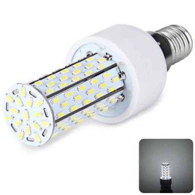E14 120 x 3014 SMD LED 12W AC85 - 265V 1200lm Corn Lamp without Lamp Shade  -  White Light