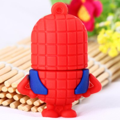 Cartoon Style Spiderman Bee-do Pattern 32GB USB 2.0 Flash Memory for Computer