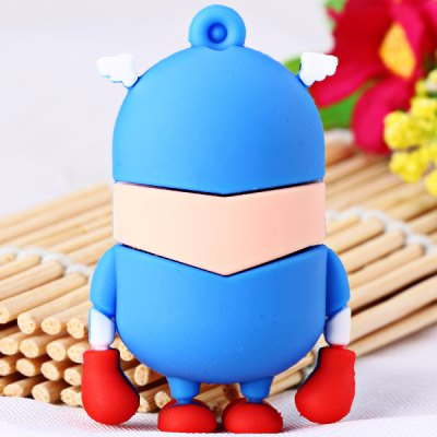 Cartoon Style Captain American Bee-do Pattern 16GB USB 2.0 Flash Memory for Computer