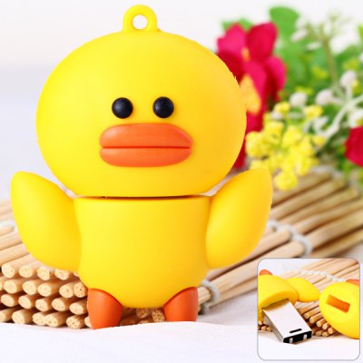 Cartoon Style Duck Pattern 32GB USB 2.0 Flash Memory for Computer