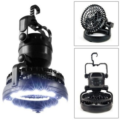 Outdoor Camping Tent Light Lamp with Fan
