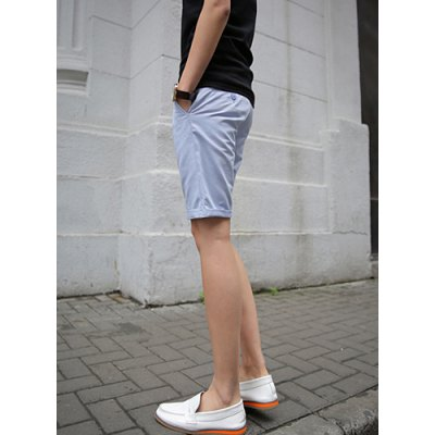 Гаджет   Korean Style Solid Color Zipper Fly Personality Strap Embellished Crimping Straight Leg Men