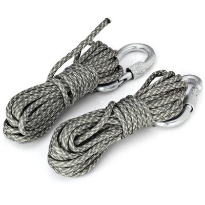 2PCS Practical 3.5M Parachute Rope Paracord Tent Line with Carabiner