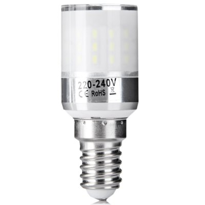 E14 50 x 3014 SMD LED 4W AC220 - 240V 500lm Corn Lamp with Lamp Shade  -  White Light