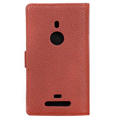 ФОТО Litchi Veins Artificial Leather and Plastic Material Stand Case with Card Holder for Nokia Lumia 925