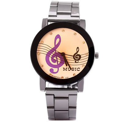 Rosivga Stylish Men Watch Analog with Musical Note Round Dial Steel Watch BandMens Watches<br>Rosivga Stylish Men Watch Analog with Musical Note Round Dial Steel Watch Band<br><br>Brand: Rosivga<br>Watches categories: Male table<br>Watch style: Fashion<br>Movement type: Quartz watch<br>Shape of the dial: Round<br>Display type: Pointer<br>Case material: Stainless steel<br>Case color: Black<br>Band material: Stainless steel<br>Clasp type: Buckle<br>Band color: Silver<br>Special features: Three needles<br>The dial thickness: 0.8 cm / 0.3 inch<br>The dial diameter: 4.2 cm / 1.7 inch<br>The band width: 1.8 cm / 0.7 inch<br>Product weight: 0.07 kg<br>Product size (L x W x H): 21.0 x 4.2 x 0.8 cm / 8.3 x 1.7 x 0.3 inches<br>Package Contents: 1 x Watch