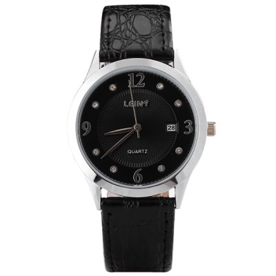 Гаджет   Stylish Men Watch Analog with Round Dial Genuine Leather Watch Band Watches