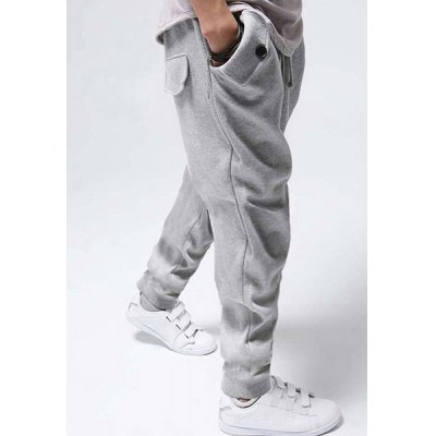 Casual Style Lace-Up Design Solid Color Slimming Personality Pocket Embellished Narrow Feet Mens Cotton Blend Harem Long PantsMens Pants<br>Casual Style Lace-Up Design Solid Color Slimming Personality Pocket Embellished Narrow Feet Mens Cotton Blend Harem Long Pants<br><br>Style: Casual<br>Material: Cotton, Polyester<br>Fabric Type: Terry<br>Fit Type: Regular<br>Waist Type: Mid<br>Closure Type: Drawstring<br>Front Style: Flat<br>Weight: 1KG<br>Pant Length: Long Pants<br>Pant Style: Harem Pants<br>Package Contents: 1 x Pants