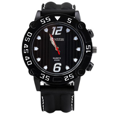 Гаджет   Special Men Wrist Watch Analog with Big Round Dial Silicone Watch Band Men