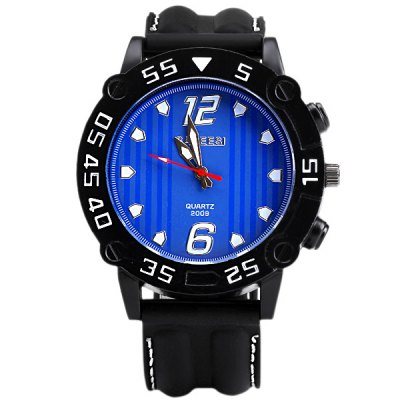 Special Men Wrist Watch Analog with Big Round Dial Silicone Watch BandMens Watches<br>Special Men Wrist Watch Analog with Big Round Dial Silicone Watch Band<br><br>Watches categories: Male table<br>Watch style: Fashion<br>Available color: Navy<br>Movement type: Quartz watch<br>Shape of the dial: Round<br>Display type: Pointer<br>Case material: Stainless steel<br>Case color: Black<br>Band material: Silica gel<br>Clasp type: Pin buckle<br>Band color: Black<br>Special features: Three needles<br>The dial thickness: 1.1 cm / 0.4 inch<br>The dial diameter: 4.9 cm / 1.9 inch<br>The band width: 2.4 cm / 0.9 inch<br>Product weight: 0.09 kg<br>Product size (L x W x H): 26.7 x 5.3 x 1.1 cm / 10.5 x 2.1 x 0.4 inches<br>Package Contents: 1 x Watch