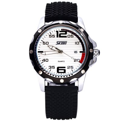 Skmei Special Men Wrist Watch Analog with Date Round Dial Silicone Watch BandMens Watches<br>Skmei Special Men Wrist Watch Analog with Date Round Dial Silicone Watch Band<br><br>Brand: Skmei<br>Watches categories: Male table<br>Watch style: Fashion<br>Movement type: Quartz watch<br>Shape of the dial: Round<br>Display type: Pointer<br>Case material: Stainless steel<br>Case color: Assorted colors<br>Band material: Silica gel<br>Clasp type: Pin buckle<br>Band color: Black<br>Special features: Date<br>Water Resistance: 30 meters<br>The dial thickness: 1.1 cm / 0.4 inch<br>The dial diameter: 4.3 cm / 1.7 inch<br>The band width: 2.2 cm / 0.9 inch<br>Product weight: 0.08 kg<br>Product size (L x W x H): 25.3 x 4.7 x 1.1 cm / 10.0 x 1.9 x 0.4 inches<br>Package Contents: 1 x Watch