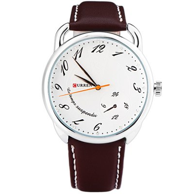Гаджет   Curren Cool Men Watch Analog with Round Dial Leather Watch Band Men