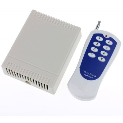 DDR3 12V 8 Channel Wireless Remote Switch High Power Controller with Receiver (1 x 23A)