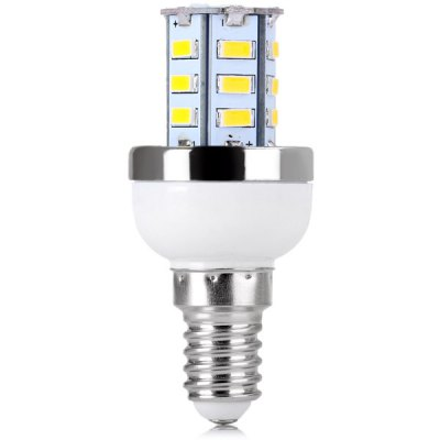 E14 24 x 5730 SMD LED AC220V Corn Lamp Silver Edge without Lamp Shade  -  Warm White LightLED Light Bulbs<br>E14 24 x 5730 SMD LED AC220V Corn Lamp Silver Edge without Lamp Shade  -  Warm White Light<br><br>Base Type: E14<br>Type: Corn Bulbs<br>Emitter Type: 5730 SMD LED<br>Total Emitters: 24<br>Voltage (V): AC 220<br>Features: Low Power Consumption, Long Life Expectancy, Energy Saving<br>Function: Home Lighting, Commercial Lighting, Studio and Exhibition Lighting<br>Available Light Color: Warm White, Cold White<br>Sheathing Material: Plastic<br>Product Weight: 0.014 kg<br>Package Weight: 0.060 kg<br>Product Size (L x W x H): 3.3 x 3.3 x 7 cm / 1.3 x 1.3 x 2.75 inches<br>Package Size (L x W x H): 3.5 x 3.5 x 8 cm<br>Package Contents: 1 x Corn Light