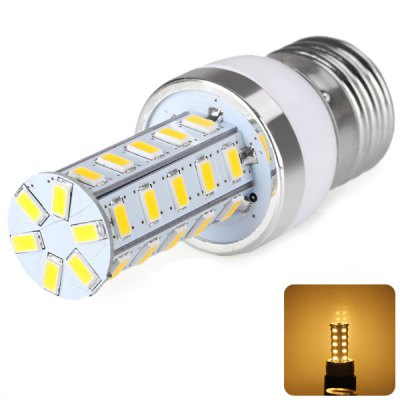 E27 36 x 5730 SMD LED AC220V Corn Lamp Silver Edge without Lamp Shade