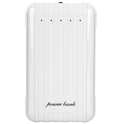 Гаджет   Luggage Box Design 12000mAh Portable Mobile Power Bank of  Dual USB Output and Flashlight Design iPhone Power Bank