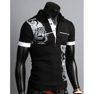 Stylish Turn-down Collar Slimming Personality Totem Print Solid Color Short Sleeves Mens Polyester Polo ShirtMens Short Sleeve Tees<br>Stylish Turn-down Collar Slimming Personality Totem Print Solid Color Short Sleeves Mens Polyester Polo Shirt<br><br>Material: Polyester, Cotton<br>Sleeve Length: Short<br>Collar: Turn-down Collar<br>Style: Fashion<br>Weight: 0.323KG<br>Package Contents: 1 x Polo Shirt<br>Pattern Type: Print