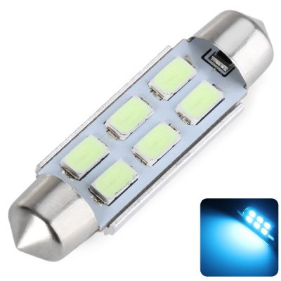 43MM Double Pointed 3W 6 x 5730 SMD LED DC12V Ice Blue Reading Light