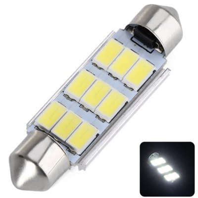 43MM Double Pointed 4.5W 9 x 5730 SMD LED DC12V White Reading Light