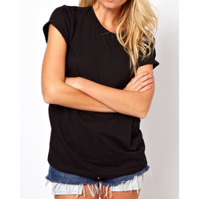 Stylish Womens Hollow Out Back Round Collar Short Sleeve T-ShirtWomens T-Shirts<br>Stylish Womens Hollow Out Back Round Collar Short Sleeve T-Shirt<br><br>Material: Polyester<br>Clothing Length: Regular<br>Sleeve Length: Short<br>Collar: Scoop Neck<br>Style: Fashion<br>Pattern Type: Solid<br>Weight: 0.122KG<br>Package Contents: 1 x T-Shirt